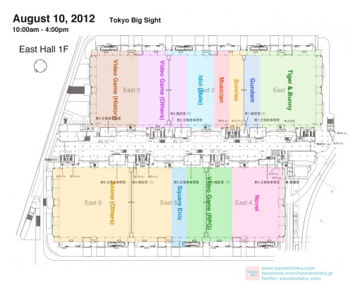 Comiket 82 Day1 East Hall Map in English