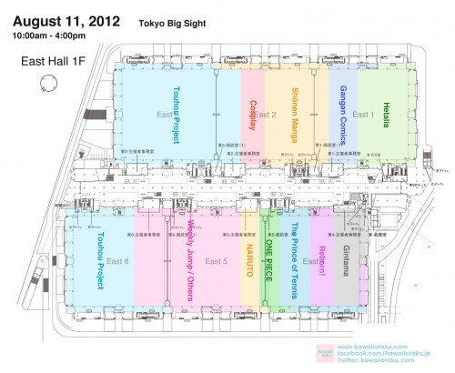 Comiket 82 Day two East Hall Map