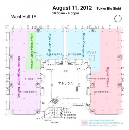 Comiket 82 Day two West Hall Map