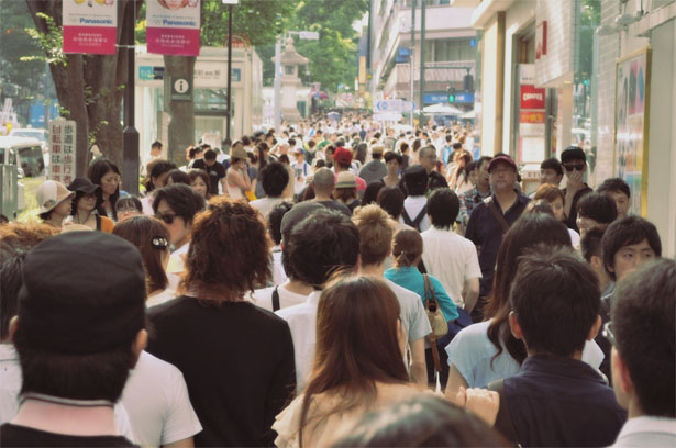 Many people in Omotesando