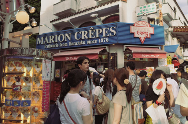 Marion Crepes in Takeshita Street
