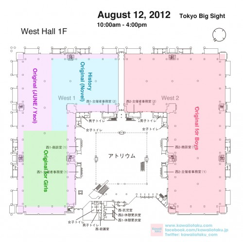 Comiket 82's map day three West Hall