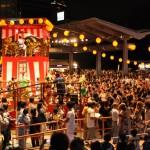 Bon dances at Roppongi Hills square