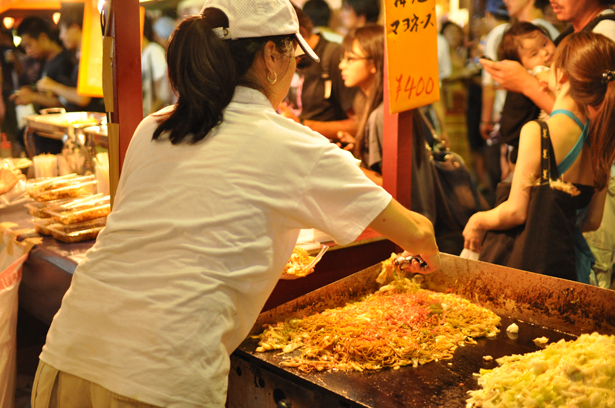Food stand at Azabu-Juban summer night festival