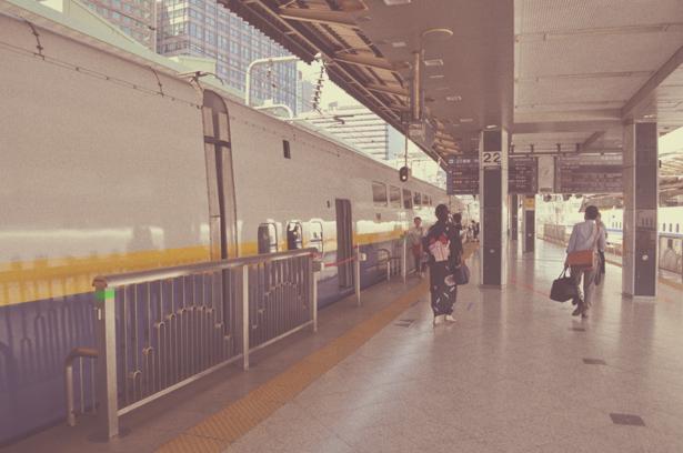 Shinkansen's platform in Tokyo Station