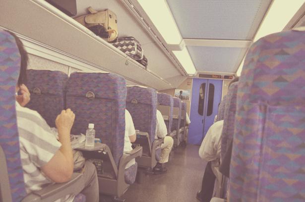 Inside of shinkansen