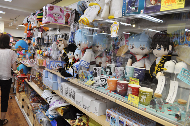 Gintama goods section in Kotobukiya