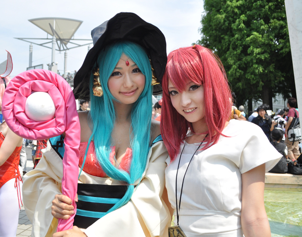 Cosplayers at Comiket 82