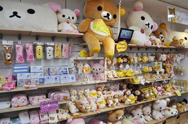 Rilakkuma section in Kotobukiya