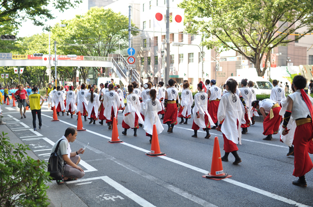 Yosakoi dancers at Omotesando