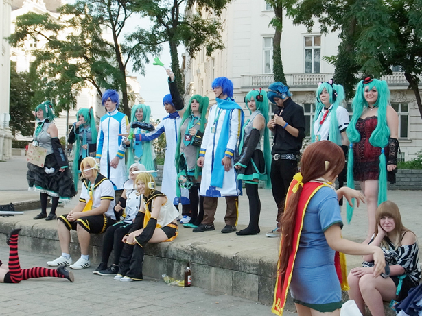 Hatsune Miku cosplayers in Vienna