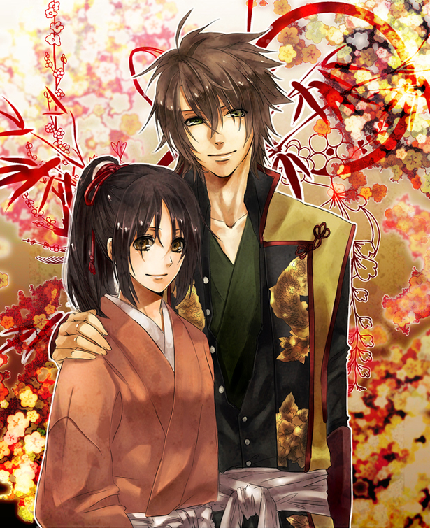 Soji and Chizuru by teki
