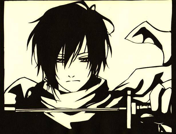 Paper cutout of Hajime Saito
