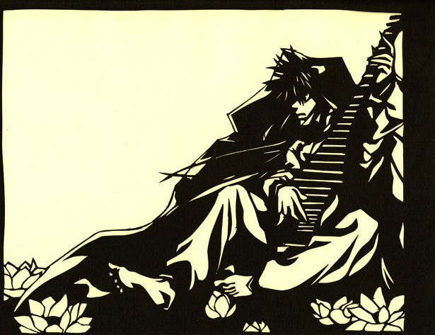 Paper cutout of Saiyuki