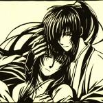 Paper cutout of Rurouni Kenshin