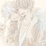 Gintoki and Hijikata by Kaya