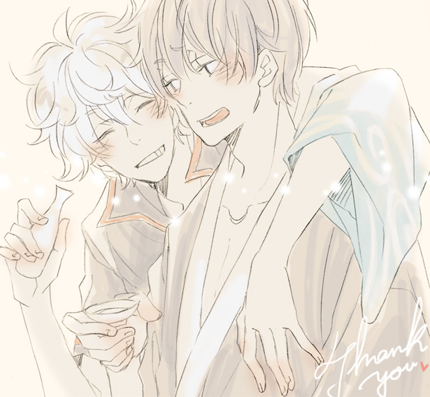 Gintoki and Hijikata by Kaya