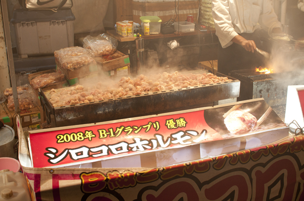 Outdoor stand in Kawagoe Matsuri