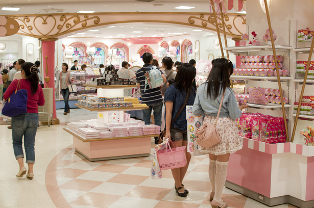 Sanrio goods shop in Sanrio Puroland