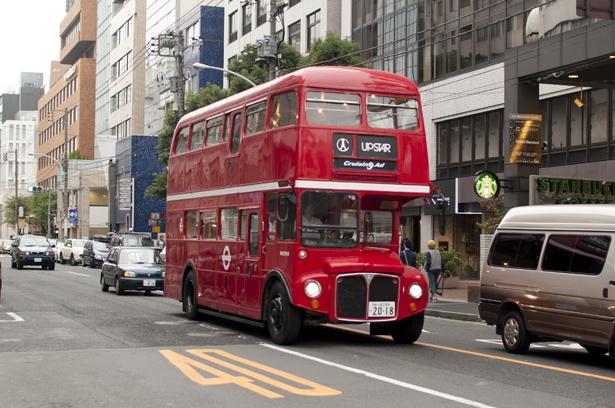 London bus in Tokyo