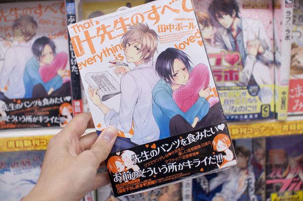"""Yaoi manga """"Kanou sensei no subete"""""""