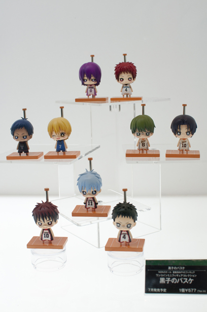 Kuroko's Basketball plastic figures at Wonder Festival